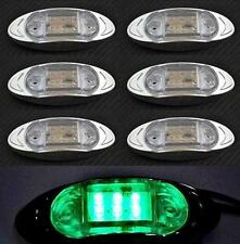 6X 24V LED VERT latéral FEUX DE POSITION CHROME camping-car Bus Camion