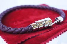 New Salvatore Ferragamo Men's Bracelet Braided Brown Gancini Sale