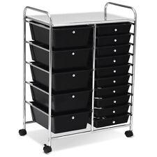 Rolling Storage Cart Portable Mobile Organizer Multipurpose Trolley w/ 15 Drawer