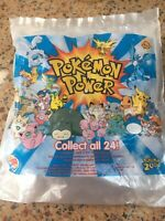 NEW Sealed Burger King Pokemon 2000 Mystery Power Card Collectible Toy Figure