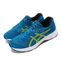 Asics Gel-Contend 6 Blue Neo Lime Mens Road Running Shoes 1011A667-401