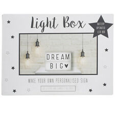 Personalised Typographic Lightbox | Make Your Own Sign | Battery Operated LED