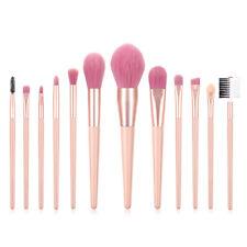 12 Pcs Nude Pink Eye Brush Set Makeup Brush Set Cosmetic Eye Makeup Tools BD