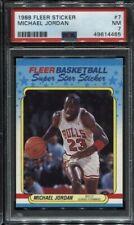1988 Fleer Basketball Michael Jordan Sticker #7 PSA 7 NM Card