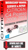 Service Workshop Manual & Repair CITROEN C4 PICASSO 2006-2013 +WIRING| DOWNLOAD
