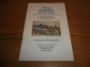 Catalogue Three on Holiday at Rye 1913 Post Impressionists Pissarro Manson Brown