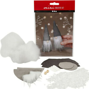 Sewing Felt Kit for Two Christmas Gonks or Gnomes  | Christmas Craft