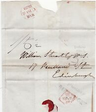 * 1839 IRELAND MAR 8 - Bs.INOSSORY IRISH WRAPPER DUBLIN ADDL½d TO EDINBURGH