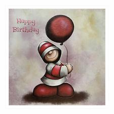Santoro Hoodies - Grußkarte - Happy Birthday - Hoodie With Single Red Balloon