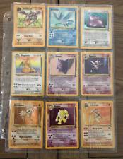 100% Complete Fossil Set Collection Original Pokemon Cards Raichu Dragonite