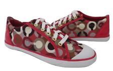 New Coach Barrett Signature Raspberry Pink Signature & Patent Leather Sneakers