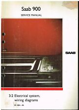 SAAB 900 (1984-86) ORIG. ELECTRICAL SYSTEM SERVICE MANUAL (WITH WIRING DIAGRAMS)