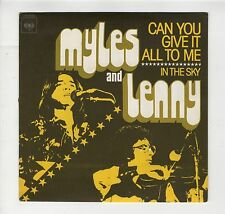 "French SP Myles and Lenny ""Can you give it all to me/ In the sky"" 1975 Near MINT"