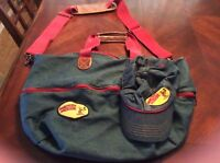 Disney Mickey Mouse Expandable Duffle Bag and Hat Jean and Leather Weekend Bag