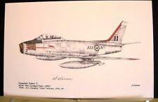 RCAF F-86 Canadair Sabre Mk 2 Douglas Duke Warren Signed Aviation Art
