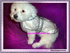 """Dog Raincoat 1piece/Clear Polyvinyl Length to14"""" SmMed New measure carry with u"""
