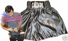 JOE CALZAGHE SIGNED EMBROIDERED BOXING TRUNKS SEE PROOF WORLD CHAMPION