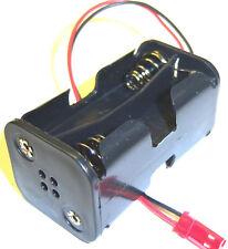 Titular de la batería RC C1202-7 Estuche Caja Pack 4 AA compatible JST 2 Pin