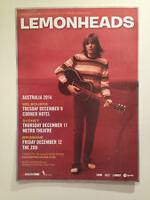 THE LEMONHEADS 2014 Australian Tour Poster A2 It's A Shame About Ray Lick ***NEW