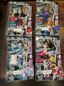 Monster High Art Class lot (4) Abbey Robecca Skelita Draculaura. New in box