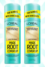 2 L'Oreal Paris Magic Root Cover Up Concealer Spray Light Blonde 2 OZ