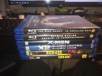 Lot of 8 Superhero DVD & Blu Ray Movies DC Marvel X-Men Batman  Kick-Ass Hellboy