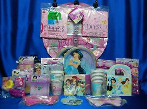 Princess Jasmine Party Set # 28 Cups Plates Napkins Tablecover Balloons Bracelet