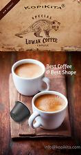 10+2 Nespresso Capsules / Pods Pure Authentic Arabica Kopi LUWAK Civet Coffee