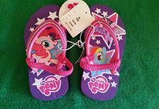My Little Pony Little Girls Medium 7/8 Pink & Purple Flip Flops Sandals New