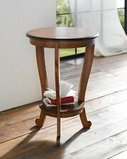Beistelltisch Konsole Cereza rund Wohnzimmertisch Holz Tisch Telefontisch Ablage