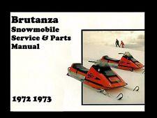 BRUTANZA SNOWMOBILE SERVICE & PART MANUALs 100pg w Brut Snow Machine Sled Repair