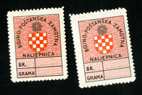 Croatia Stamps VF OG Hinged 2 Mint Labels