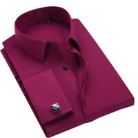 New Men's French Cuff Formal Slim Casual Shirts Business Dress Shirts TAT6405