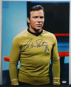 PSA/DNA SIGNED 16X20 PHOTO WILLIAM SHATNER 134