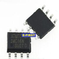 50pcs SOP-8 24C16 AT24C16 Memory IC AT24C16N-SU27 SMD