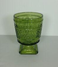 Vintage Napco Green Glass Hobnail Footed Planter Vase #1180 Cleveland Ohio