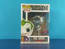 Chrome The Joker Funko Pop Vinyl Batman Arkham Asylum DC #53