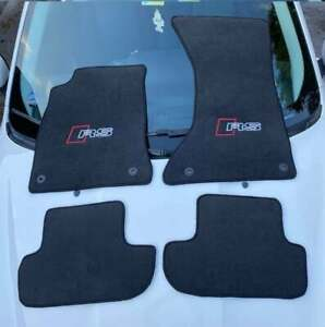 Fit For Audi RS5 Coupe 2011-15 Black Floor Mats RS Letter Clips LHD 2+2 Set Of4