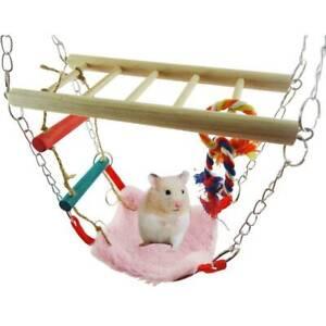 Suspension Bridge with Ladder & Hammock Hamster Hanging Climbing Toy