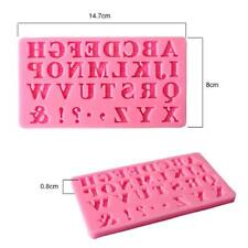 3D Alphabet Letter Silicone Fondant Mold Cake Chocolate Cutter Mould BS