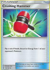 4 X POKEMON SUN & MOON CARD: CRUSHING HAMMER - 115/149