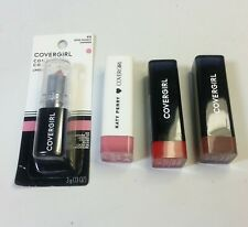 4/Lot Covergirl Lipstick Cream Katy Perry Pink Paws Coffee Crave Succulent Cherr