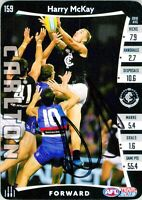 ✺Signed✺ 2019 CARLTON BLUES AFL Card HARRY MCKAY