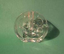2- Mid century Pukeberg Walther Design Solifleur Flower Round Art Glass Vase