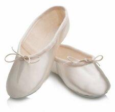 Katz Dancewear Ivory Satin Rubber Sole Ballet/Bridesmaid Shoe - UK 1 1/2 #28L469
