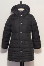 DKNY Womens Juniors Black Down Feather Filled Puffer Coat Jacket Size M Medium