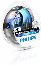 2 x Bombillas Philips BlueVision Ultra H1 + 2 W5W Regalo Faros Coche Blue Vision