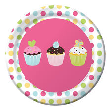 HAPPY BIRTHDAY Sweet Treats SMALL PAPER PLATES ~ Party Supplies Cake Dessert