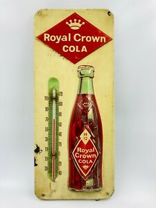Vintage RC Royal Crown Cola Metal Advertising Soda Thermometer Sign 13""