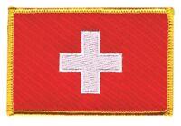 Schweiz Aufnäher Flaggen Fahnen Patch Aufbügler 8x6cm